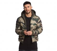 Brave Soul Chased Reversible Quilted Jacket | Camouflage / Green ... & Brave Soul Chased Reversible Quilted Jacket Adamdwight.com