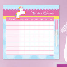 Cute Chore Chart Cute Rainbow Pony Chore Chart