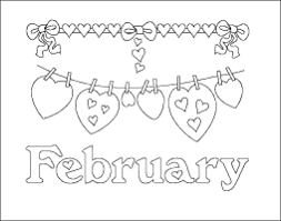 Small Picture Surprising Design February Coloring Pages February Page Month With