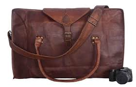vintage leather bazaar duffle bag