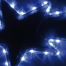 Stella Cometa Luminosa per Esterno 54 LED Bianco Freddo Illuminazione 98 x  40 cm