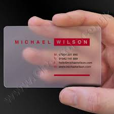 Translucent Plastic Business Cards Frosted Clear Plastic Business Cards