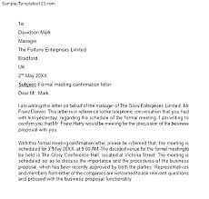 Job Confirmation Formal Letter For Interview Request Sample