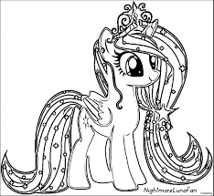 My Little Pony Coloring Pages Free Printable With Mlp Coloring Pages