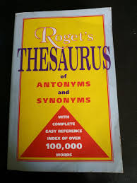 Rogets Thesaurus Of Antonyms And Synonyms With Complete Easy Reference Index Of Over 100000 Words