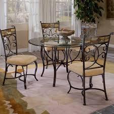 hilale pompei 5 piece dining set with glass top black gold slate mosaic com