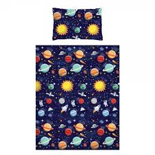 100 cotton outer space toddler duvet cover set