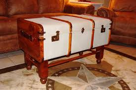 vintage steamer trunk coffee table sold
