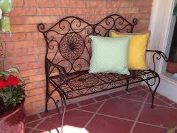 hobby lobby benches iron bench adds seating and completes the outdoor room