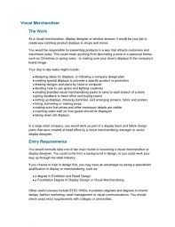 Sample Resume For Merchandiser Job Description Visual Merchandiser Job Resumeiption Template Retail Pictures HD 49