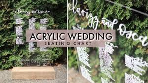 Wedding Seating Chart Acrylic My Diy Wedding Seating Chart