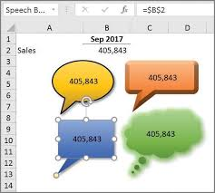 Microsoft Excel How To Link Text Boxes To Data Cells