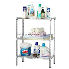 diy 3 tier metal chrome toilet rack bathroom shelf