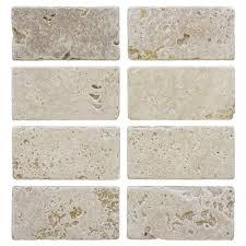 Jeffrey Court Light Travertine 3 In. X 6 In. Travertine Wall Tile (8