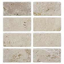 light travertine 3 in x 6 in travertine wall tile 8 pack
