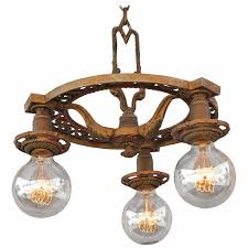 up down lighting chandelier luxury 1920s down light chandelier with three bulbs at 1stdibs
