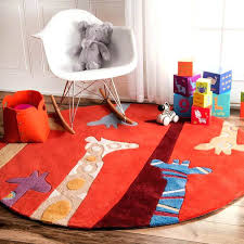 kids red rug handmade bright giraffes kids nursery red rug rugs usa kids red rug