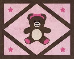 girls baby kid room floor rug for sweet jojo designs pink teddy bear bedding set