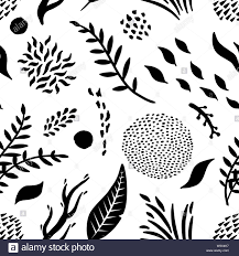 Repeats In Textile Designing Abstract Leaf Elements Seamless Repeat Pattern Vector