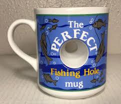 the perfect fishing hole coffee mug cup 14oz papel fisherman gift novelty angler ebay