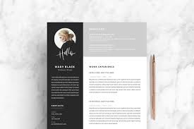 5 Page Resume Template Blackie Resume Templates Creative Market