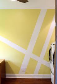 geometric wall mural laundry room