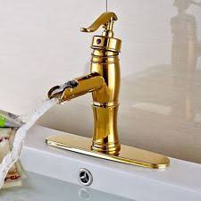 gold bathroom faucet. Gold Single Lever Bathroom Basin Faucet Countertop Sink Mixer Tap W/Cover Plate