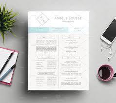 Stylish Resume Template Angele Edit Text And Resume Cv