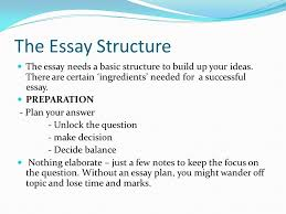 tips for writing good essays the essay structure the essay needs  the essay structure the essay needs a basic structure to build up your ideas