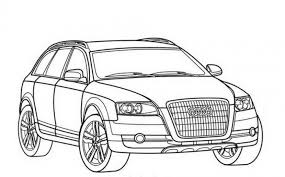 Audi Allroad Car Coloring Pages Free Online Cars Coloring Pages