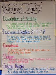Chart Narrative Examples Narrative Leads Examples Given Writing Lessons Fifth
