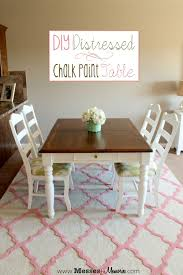 diy distressed chalk paint table from messes to memories