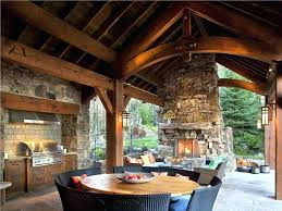 covered outdoor kitchens with fireplace.  With Covered Outdoor Kitchen Small Ideas Designs With Roofs Luxury Kitchens  Rustic Very Fireplace   With Covered Outdoor Kitchens Fireplace E