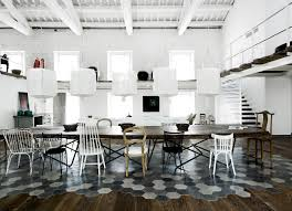 dining room tile flooring. paola navone also used an eclectic array of dining chairs to surround this very large table but what really makes idea dramatically unusual is the room tile flooring s