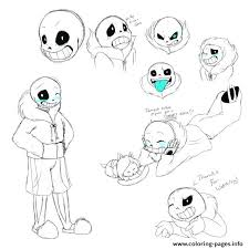undertale coloring book sans sketch study by coloring pages undertale colouring book