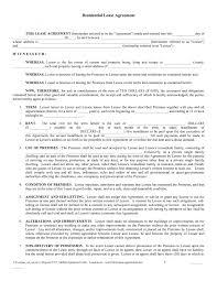 Printable Rental Agreement Template Residential Lease Agreement Template Free Copy Rental