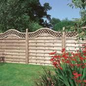 fence panels designs. Decorative Trellis Topped Fencing Panels: Fence Panels Designs I