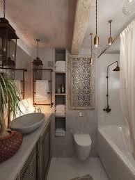 Black and White Bathroom. Licht bolletjes in het plafond.