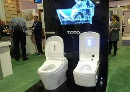 share or ment on this article self cleaning toilet makes splash in las vegas