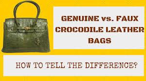 here are some useful tips to help you spot a genuine crocodile leather handbag