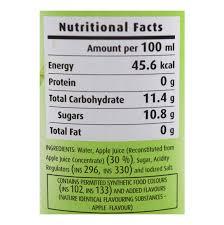 Green Apple Nutrition Chart Del Monte Green Apple Fruit Drink 240 Ml