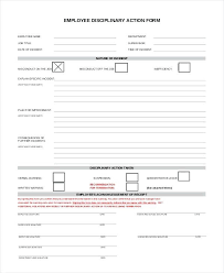 Employee Disciplinary Action Form Gorgeous Employee Discipline Form Template Free Reprimand Letter Templates