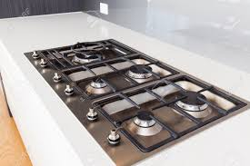 Modern gas stoves Small Soapstone Wood Modern Gas Cooktop In New Home Stock Photo 55433911 123rfcom Modern Gas Cooktop In New Home Stock Photo Picture And Royalty Free
