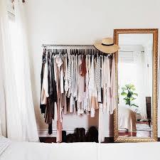 clothes rack ideas. Fine Ideas Makeshift Closet Ideas  Gold Mirror  Clothing Rack Throughout Clothes Rack Ideas Pinterest