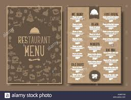 pages menu template menu template for cafe or restaurant in a retro style design 2 a4