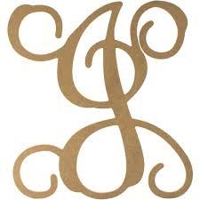 12 wood letter vine monogram j zoom