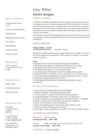 Interior Design Resume Template Custom Interior Design Resume Template Interior Designer Cv Sample Free