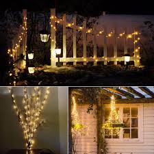 Solar Led Copper Wire Lights 10m 20m Solar Power Holiday Light Led Copper Wire String