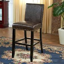 bar stools with nailhead leather espresso faux leather with nail head leather counter stools with nailhead