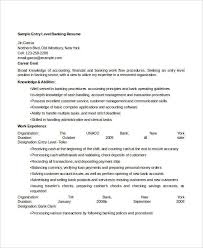 Entry Level Banking Resumes 14 Banking Resume Templates In Word Free Premium Templates